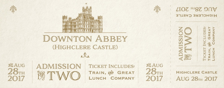 Donton-Abbey-Ticket